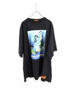 HERON PRESTON(ヘロン プレストン)の古着「オーバーサイズTシャツ」|ブラック