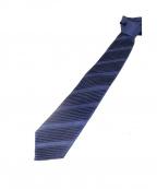 BRIONI(ブリオーニ)の古着「プリーツデザインネクタイ」 ブルー