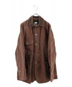 POST OALLS(ポストオーバーオールズ)の古着「カバーオール」 ブラウン