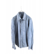 JOSEPH HOMME(ジョゼフオム)の古着「エアーレザーリンクルジャケット」|ブルー