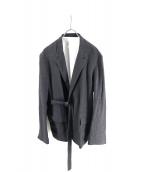 URU(ウル)の古着「リネンベルテッドジャケット」|グレー