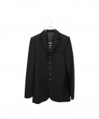 Jean Paul Gaultier FEMME(ジャンポールゴルチェ フェム)の古着「ビジューボタンテーラードジャケット」|ブラック