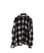 NEON SIGN(ネオンサイン)の古着「ベルベットバッファローチェックシャツ」|ブラック