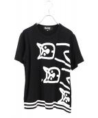 BLACK COMME des GARCONS(ブラックコムデギャルソン)の古着「プリントTシャツ」|ブラック