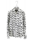 BLACK COMME des GARCONS(ブラックコムデギャルソン)の古着「総柄バイクプリントシャツ」 ホワイト