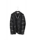 DISCOVERED(ディスカバード)の古着「テ-プデザイン3Bジャケット」|ブラック×ホワイト