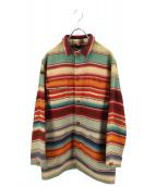 POLO COUNTRY(ポロカントリー)の古着「ネイティブラグジャケット」|ベージュ×レッド