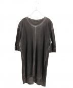 THE VIRIDI-ANNE(ザヴィリディアン)の古着「加工カットソー」 グレー
