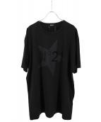 N°21(ヌメロ ヴェントゥーノ)の古着「フロッキーロゴプリントTシャツ」|ブラック