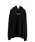 lucien pellat-finet(ルシアンペラフィネ)の古着「LPF PARISスウェットフーディ」|ブラック