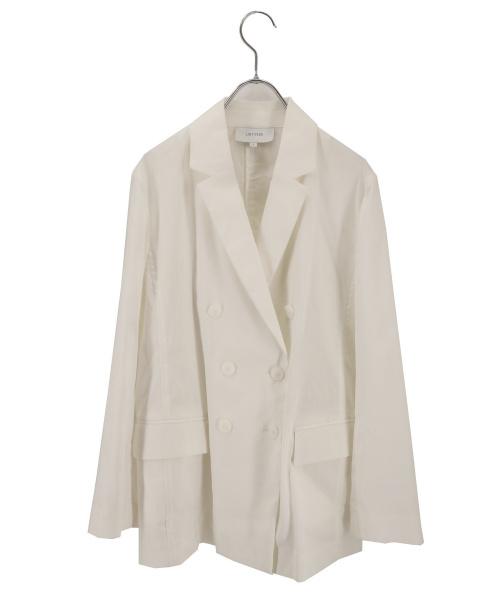 UNTITLED(アンタイトル)UNTITLED (アンタイトル) リネンストレッチジャケット ホワイト サイズ:2の古着・服飾アイテム