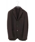 Cantarelli(カンタレリ)の古着「ヘリンボーン3Bジャケット」|ブラウン