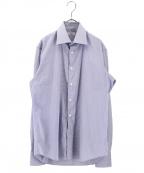 Bagutta(バグッタ)の古着「ワイドカラーシャツ」|ブルー