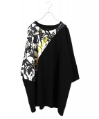 yoshio kubo(ヨシオクボ)の古着「プリントTシャツ」|ブラック