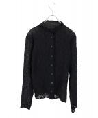 ISSEY MIYAKE FETE(イッセイミヤケ フェット)の古着「デザインプリーツシャツ」|ブラック