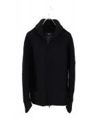 Ys(ワイズ)の古着「ニットジャケット」|ブラック