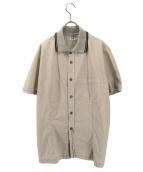 C.P COMPANY(シーピーカンパニ)の古着「リブカラーシャツ」|グレージュ