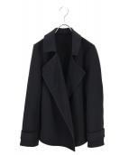 LAUTRE AMONT(ロートレアモン)の古着「エステルダブルクロスゆるトレンチコート」 ブラック