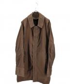 08sircus(ゼロエイトサーカス)の古着「ガーメントダイパッカリングコート」 ブラウン