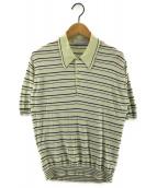 JOHN SMEDLEY(ジョンスメドレー)の古着「シーアイランドコットンニットポロシャツ」|イエロー