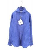 ANGLAIS(アングレー)の古着「リネンシャツ」|ブルー