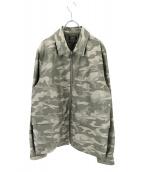 A.P.C(アーペーセー)の古着「ジャガードカモ柄ジップジャケット」|オリーブ
