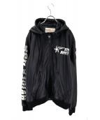 AVIREX(アビレックス)の古着「TRACK シープスキンフーデッドジャケット」|ブラック