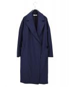 EPOCA(エポカ)の古着「ライトギャバドロップショルダーコート」 ネイビー