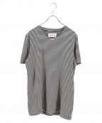 Maison Margiela10(メゾンマルジェラ10)の古着「ボーダーTEE」|ホワイト×ブラック