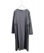 kelen(ケレン)の古着「サイドプリーツドレス」|グレー