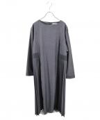 kelen(ケレン)の古着「サイドプリーツドレス」 グレー