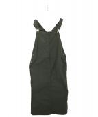 UNIVERSAL OVERALL(ユニバーサルオーバーオール)の古着「別注ジャンパースカート」|グリーン