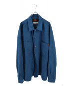 UNIVERSAL OVERALL(ユニバーサルオーバーオール)の古着「スウェードタッチシャツ」|グリーン