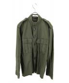 Yves Saint Laurent(イブサンローラン)の古着「[OLD]ミリタリーシャツジャケット」|カーキ