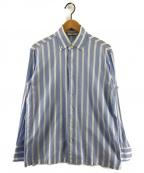 GUY ROVER(ギローバー)の古着「SHIPS別注ストライプBDシャツ」|ブルー