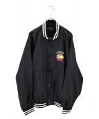 CRIMIE(クライミー)の古着「刺繍サテンスタジャン」|ブラック