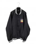 CRIMIE(クライミー)の古着「刺繍サテンスタジャン」 ブラック