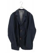 FRANK LEDER(フランクリーダー)の古着「コットンテーラードジャケット」|ネイビー