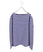 OUTIL(ウティ)の古着「le minor別注バスクシャツ」 ホワイト×ブルー