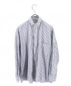 ticca(ティッカ)の古着「ストライプシャツ」 ホワイト×ブルー