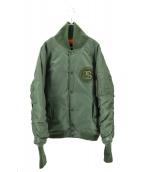 FRAGMENT DESIGN×stussy(フラグメントデザイン×ステューシー)の古着「コラボMA-1ジャケット」|カーキ