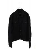 HEAD OF STATE(ヘッドオブステイト)の古着「CUSTOM DENIM BLACK JACKET」|ブラック