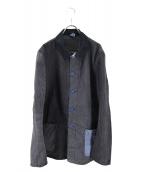 CANTON(キャントン)の古着「クレイジーパターンカバーオール」|ブラック