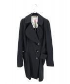 V.W. RED LABEL(ヴィヴィアンウエストウッドレッドレーベル)の古着「オーブボタン丸襟コート」|ブラック