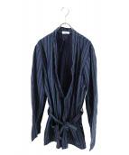 B&B(ビーアンドビー)の古着「作務衣ジャケット」|ネイビー×グリーン