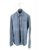 RRL(ダブルアールエル)の古着「ストライプワークシャツ」|ブルー