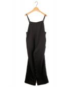 BEAUTY&YOUTH(ビューティアンドユース)の古着「サテンキャミソールサロペット」|ブラック