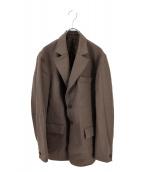 Adam et Rope(アダムエロペ)の古着「高密度ウール2Bジャケット」|グレー