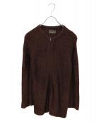 UNDERCOVER(アンダーカバー)の古着「ニットジャケット」|ブラウン