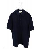 HERMES(エルメス)の古着「Hロゴ刺繍ポロシャツ」|ネイビー